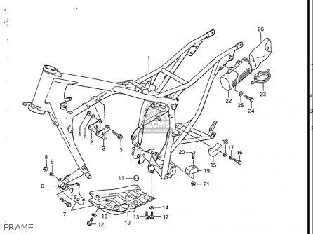 Suzuki Sp200 1986-1988 usa Frame