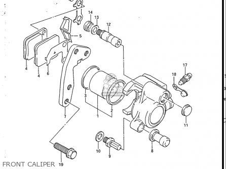 Suzuki Sp200 1986-1988 usa Front Caliper