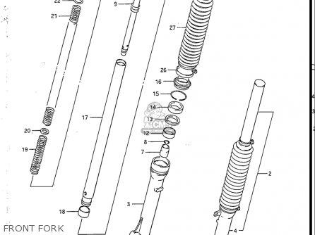 Suzuki Sp200 1986-1988 usa Front Fork