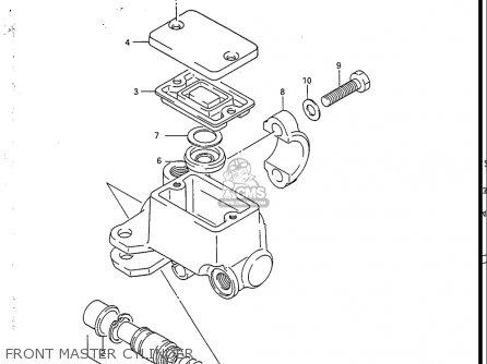 Suzuki Sp200 1986-1988 usa Front Master Cylinder