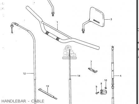 Suzuki Sp200 1986-1988 usa Handlebar - Cable