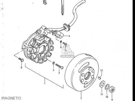 Suzuki Sp200 1986-1988 usa Magneto