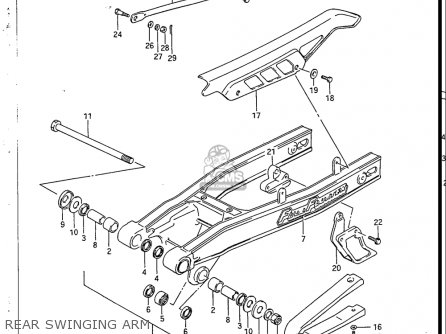 Suzuki Sp200 1986-1988 usa Rear Swinging Arm
