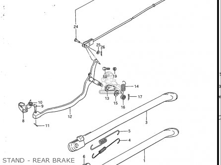 Suzuki Sp200 1986-1988 usa Stand - Rear Brake
