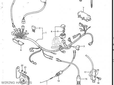 Suzuki Sp200 1986-1988 usa Wiring Harness