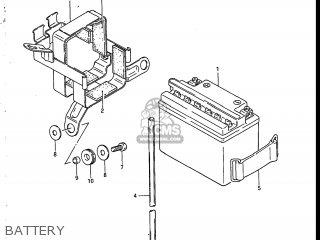 Suzuki Sp200 1986 g Usa e03 Battery