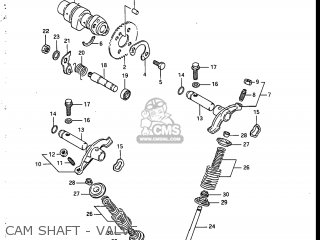 Suzuki Sp200 1986 g Usa e03 Cam Shaft - Valve