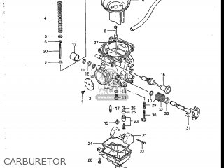 Suzuki Sp200 1986 g Usa e03 Carburetor