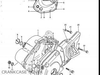 Suzuki Sp200 1986 g Usa e03 Crankcase Cover