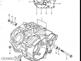Suzuki Sp200 1986 g Usa e03 Crankcase