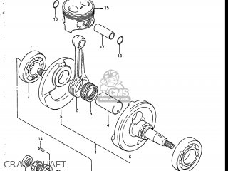Suzuki Sp200 1986 g Usa e03 Crankshaft