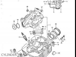 Suzuki Sp200 1986 g Usa e03 Cylinder Head