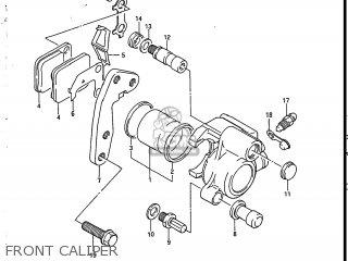 Suzuki Sp200 1986 g Usa e03 Front Caliper