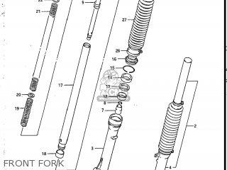 Suzuki Sp200 1986 g Usa e03 Front Fork