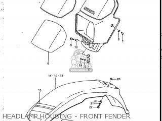 Suzuki Sp200 1986 g Usa e03 Headlamp Housing - Front Fender