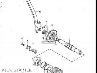 Suzuki Sp200 1986 g Usa e03 Kick Starter