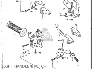 Suzuki Sp200 1986 g Usa e03 Light Handle Switch