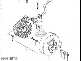 Suzuki Sp200 1986 g Usa e03 Magneto