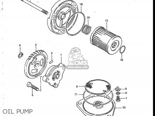 Suzuki Sp200 1986 g Usa e03 Oil Pump