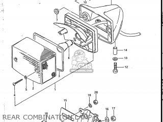Suzuki Sp200 1986 g Usa e03 Rear Combination Lamp