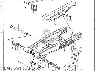 Suzuki Sp200 1986 g Usa e03 Rear Swinging Arm