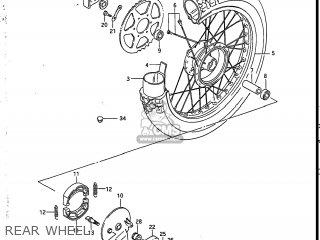 Suzuki Sp200 1986 g Usa e03 Rear Wheel