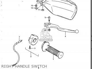 Suzuki Sp200 1986 g Usa e03 Right Handle Switch