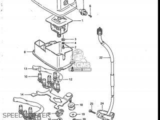 Suzuki Sp200 1986 g Usa e03 Speedometer