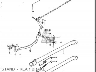 Suzuki Sp200 1986 g Usa e03 Stand - Rear Brake