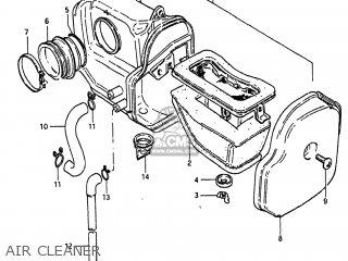 AIR CLEANER - SP250 1983 (D) USA (E03)