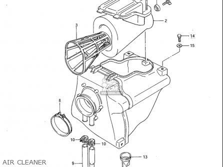 Suzuki Sp600 1985 f Usa e03 Air Cleaner