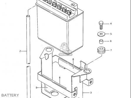 Suzuki Sp600 1985 f Usa e03 Battery