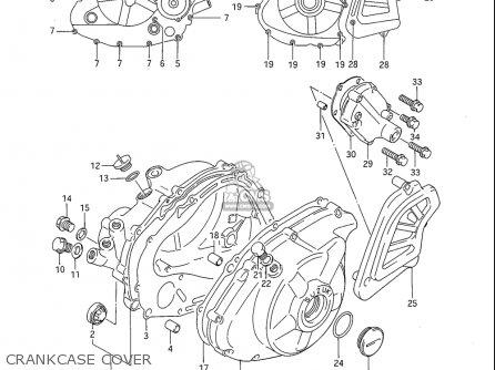 Suzuki Sp600 1985 f Usa e03 Crankcase Cover
