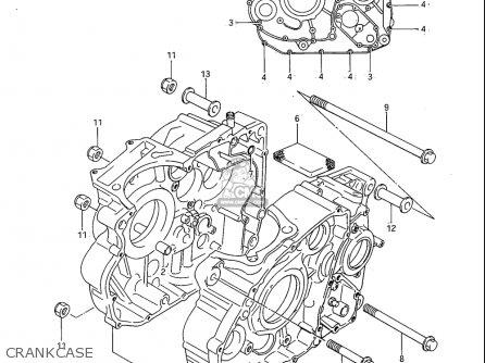 Suzuki Sp600 1985 f Usa e03 Crankcase