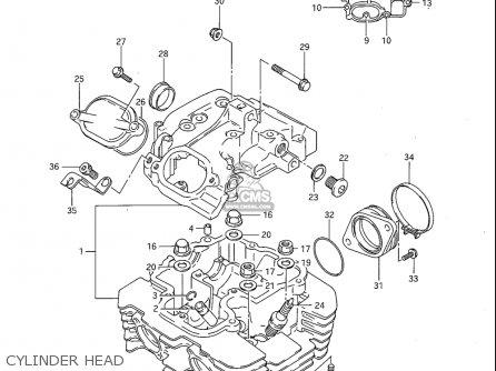 Suzuki Sp600 1985 f Usa e03 Cylinder Head