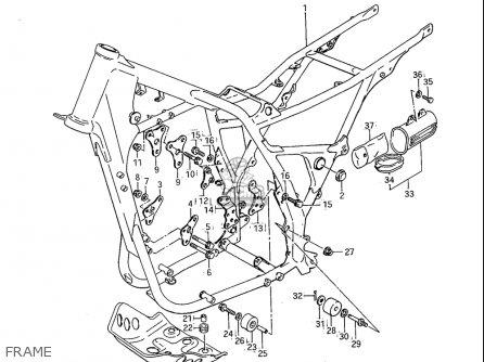 Suzuki Sp600 1985 f Usa e03 Frame