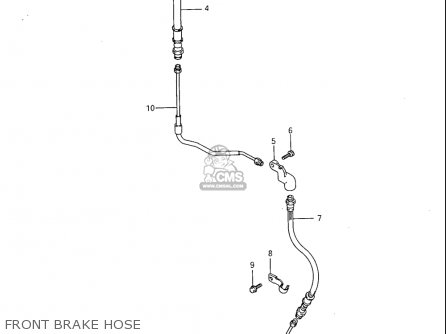 Suzuki Sp600 1985 f Usa e03 Front Brake Hose