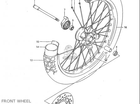 Suzuki Sp600 1985 f Usa e03 Front Wheel