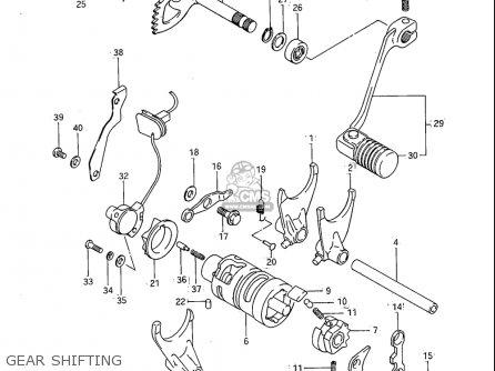 Suzuki Sp600 1985 f Usa e03 Gear Shifting