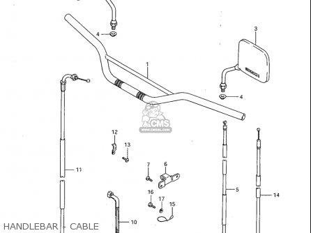 Suzuki Sp600 1985 f Usa e03 Handlebar - Cable