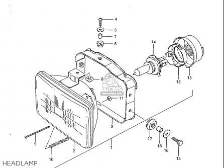 Suzuki Sp600 1985 f Usa e03 Headlamp