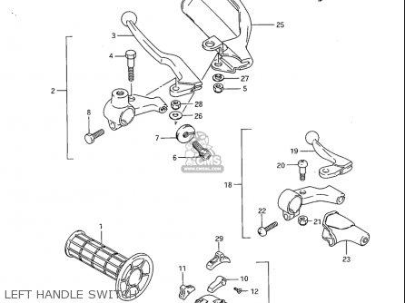 Suzuki Sp600 1985 f Usa e03 Left Handle Switch
