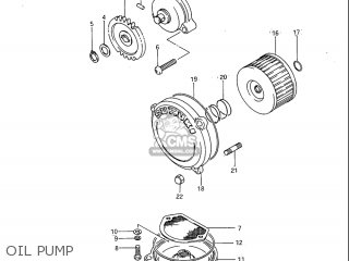 Suzuki Sp600 1985 f Usa e03 Oil Pump