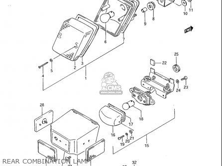 Suzuki Sp600 1985 f Usa e03 Rear Combination Lamp
