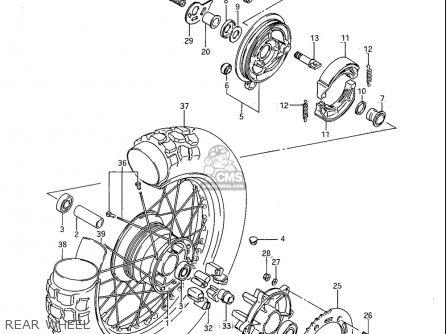 Suzuki Sp600 1985 f Usa e03 Rear Wheel