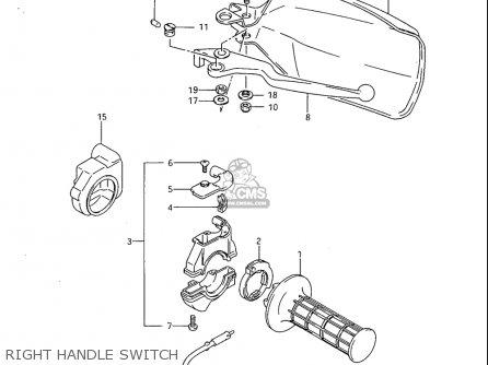 Suzuki Sp600 1985 f Usa e03 Right Handle Switch