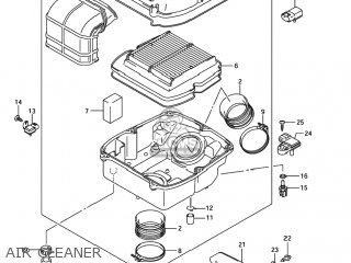 suzuki sv1000 2003 (k3) usa (e03) parts lists and schematicssuzuki sv1000 2003 (k3) usa (e03) air cleaner air cleaner