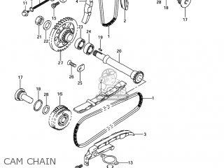 suzuki sv1000s 2003 (k3) usa (e03) cam chain