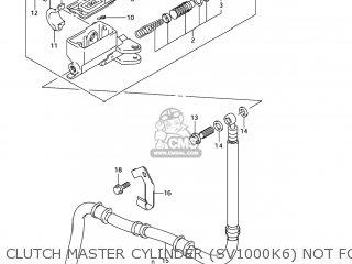 Suzuki Sv1000s 2006 k6 Usa e03 Clutch Master Cylinder sv1000k6 Not For Us Market