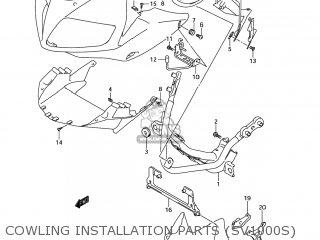 Suzuki Sv1000s 2006 k6 Usa e03 Cowling Installation Parts sv1000s
